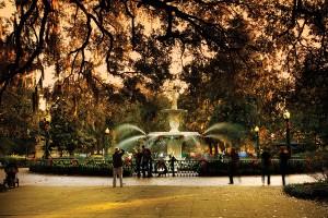 Savannah Holidays Forsyth Park Fountain