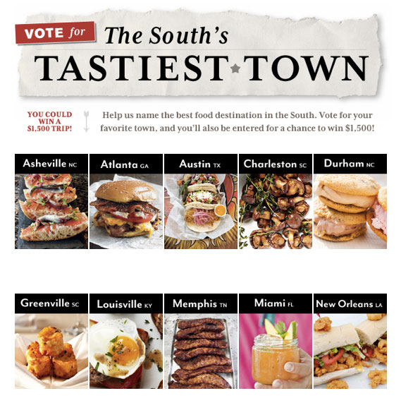 Southern Living Tastiest Town Contest