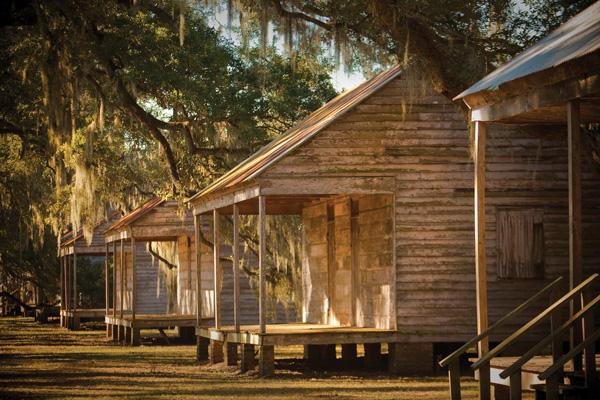 Evergreen slave cabins