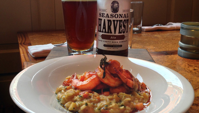 Saffron and Fall Squash Risotto Paired with Back Forty Beer Harvest Ale
