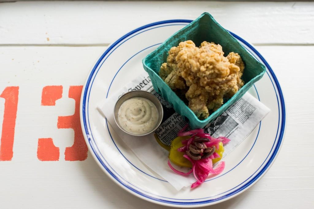 Fried Oystesr with Feta Dressing (2)2