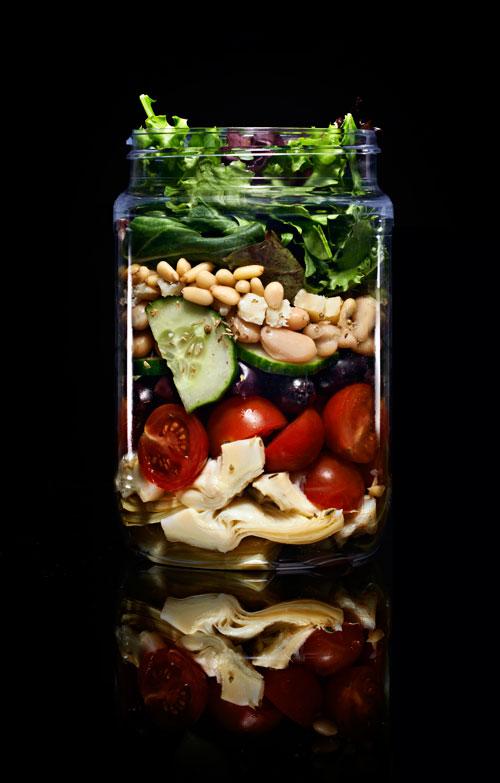 Mediterranean Mason Jar Salad - Deep South Magazine