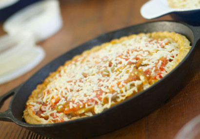 Heirloom Tomato and Silver Queen Corn Pie