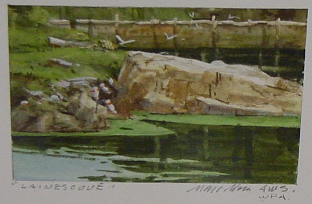 Laines Cove. Whiskey Painting by Marc Moon. Courtesy of Lou Ann Zimmerman