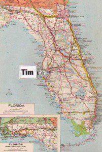Tim Dorsey Map, Florida